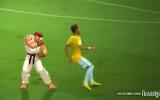 Neymar, Street Fighter'da Dayak Yedi.