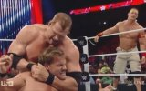 WWE RAW, John Cena, Chris Jericho & Roman Reigns against The Authority in the ring, Sep 1, 2014