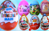 Sürpriz Yumurtalar Kinder MAXI, Kinder Joy, Hello Kitty, Barbie, Mickey Mouse Oyuncaklar